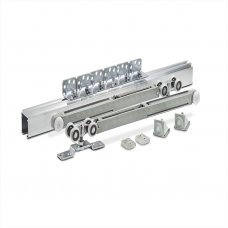 Раздвижная система для шкафов Новатор 125/D2 (2 доводчика с ЦАМ каретками)