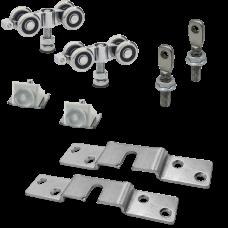 Комплект стальных роликов для дверей до 150 кг СТ-150